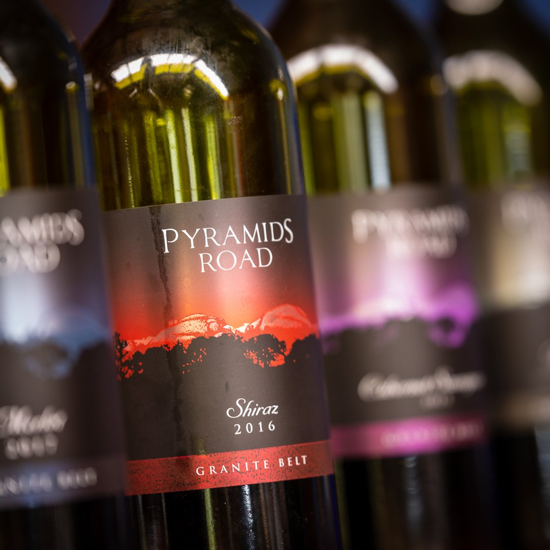 Pyramids Road Wines labels